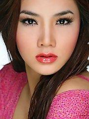 Vietnamese vixen Trang Nhung shows off an exotic pair of tits