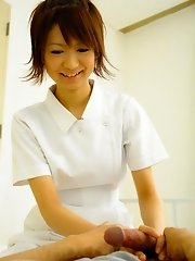 Miriya Hazuki Asian nurse treats patients by sucking their dicks