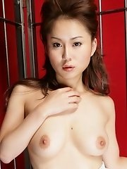 Captured Megu Ayase in hot lingerie