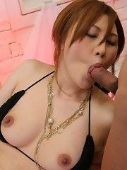 Hiyori Konno sucks and slurps jizz
