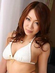 Miki Asou in bikini solo girl