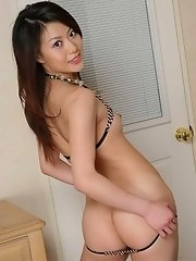 Hina Aisawa gets out of her swimsuit