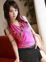 Teen Tomoe Hinatsu in mini skirt