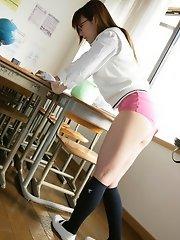 Yume is cute in her school uniform