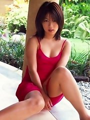 Cute Asian model is lovely and a cock tease