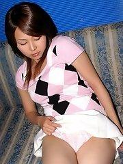 Maiko looks so innocent but she teases cocks