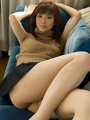 Lovely Reika looks great in lingerie