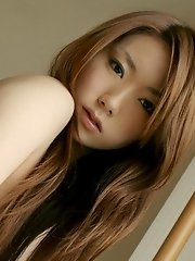 Hot Japanese model shows her pussy