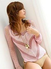Cute Asian model shows her hot body