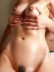 Beautiful and sexy Japanese av idol Hana Yoshida shows a way to have the perfect sex