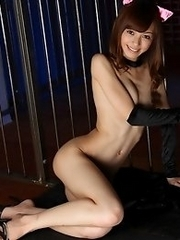 Beautiful and lovely Japanese av idol Aino Kishi wears bunny outfit and shows off her body