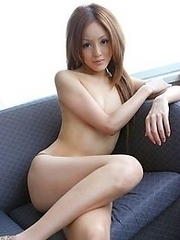 Skinny and lovely Japanese av idol Misa Ozawa shows her all naked body