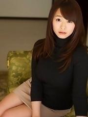 Luxurious and horny Japanese av idol Marina Shiraishi takes her amazing body to show