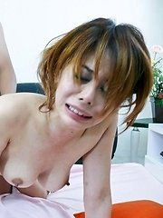 Moe Aizawa has a trimmed pussy with a sweet hole