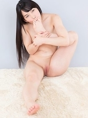 Yui Kasugano lets a dude rub his junk against her bare oiled-up booty here