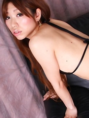 Meru Amamiya is wild cowgirl showing lustful curves to cam