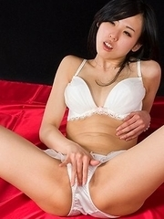 Pantyhose-clad hottie Natsuki Yokoyama enjoying hardcore masturbation and more