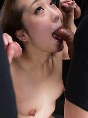 Juri Kisaragi Cum Covered Handjob