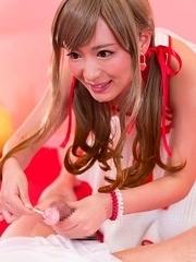 Miyuki Sakura Sucks Candy Dick