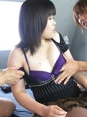 Hot Asian Yukime Matsushita gets cum on nose