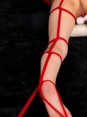 Rope bondage tease gallery featuring Moeka Kurihara, she loves that vibrator