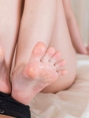 Mashiro Airi and Kuroki Ayumi team up to give a supreme footjob in POV